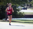 Alexandra Blake, accounting junior, runs during the Counseling Center's 5K Run for Suicide Prevention Awareness at Sikes Lake, Sept. 13. She finishes second. Photo by Herbert McCullough