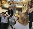 Students gather in the mall after a bomb threat forced the evacuation of the campus Dec. 8. Photo by Lauren Roberts