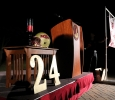 The stage at the candlelight vigil remembering Robert Greys on Jesse Rogers Promenade on Sept. 21. Photo by Elias Maki