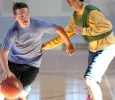 Grant Boxell, finance sophomore, dribbles around Luke Davis, criminal justice freshman, to go up for the shot during the Chi-Omega Basketball Tournament, Swishes for Wishes, Sat. March 28, 2015. Photo by Rachel Johnson