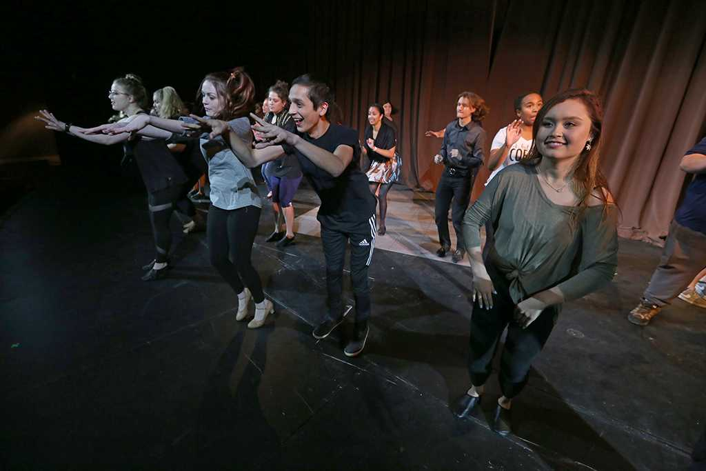 at the tryouts for Urinetown, Nov. 29, 2017. Photo by Bradley Wilson