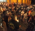 Students and others gather outside of Bolin Hall with candles to honor the victims of the remnants of tropical storm Erika Sept. 1. Photo by Francisco Martinez