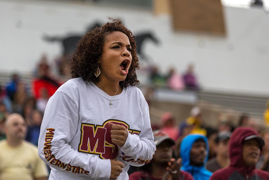 Jasmine Richardson, excercise physiology junior, at the MSU football homegame against Oklahoma Panhandle state photo by Izziel Latour