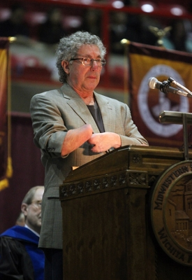 Beck Weathers, MSU Alumnus, was the guest speaker at Midwestern State University fall graduation, Dec. 13, 2014 in Wichita Falls, Texas. Photo by Rachel Johnson