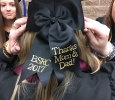Graduation cap for Madison Hillard, respiratory care, at Midwestern State graduation, May 13, 2017. Photo by Kara McIntyre