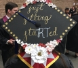 Graduation cap for Emma Davenport, respiratory care senior at the Midwestern State University graduation, May 13, 2017. Photo by Kara McIntyre