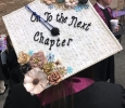 Graduation cap for Megan Duty, respiratory care senior at the Midwestern State University graduation, May 13, 2017. Photo by Kara McIntyre