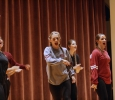 Mustang Manics spreading MSU spirit during their performance at the Lip sync competition in the Akin Auditorium. 24 Oct. Photo by Bridget Reilly