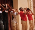 Omega Delta Phi performing together at Lip Sync in the Akin Auditorium. 24 Oct. Photo by Bridget Reilly