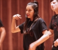 Ashly Acevedo, respiratory care sophomore on stage at Lip Sync in the Akin Auditorium 24 Oct. Photo by Bridget Reilly