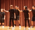 Tau Kappa Epsilon and Gamma Phi Beta on stage at Lip Sync in the Akin Auditorium. 24 Oct. Photo by Bridget Reilly