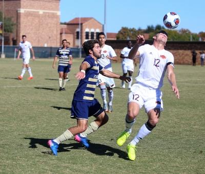 during the Heartland Conference championship game aginst St. Edward's University. MSU won 1-0. Photo by Bradley Wilson