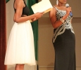 Beyandra Blanchard, radiology sophmore, answers questions during the interview segment of the 2017 Mr. and Miss Caribfest Pagaent held in Akin Auditorium Sept. 28. Photo by Marissa Daley