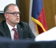 Brent Wallace, North Central Texas College president, discusses expansion with NCTC in Flower Mound during the board of regents meeting Aug. 4. University president Suzanne Shipley said that the benefits outweigh the costs when it comes to expanding.