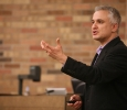 "Peter Boghossian, philosophy instructor at Portland State University, spoke in Dillard auditorium May 1 at 7 p.m. About 120 people attended the free lecture, ""Jesus, the Easter Bunny, and Other Delusions: Just Say No!"" Photo by Connor Bennett"