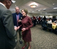 Suzanne Shipley greets people at the lunch following her inauguration as university president, Midwestern State University, Dec. 11, 2015. Photo by Bradley Wilson
