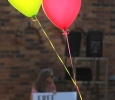 Balloons were handed out to protestors apart of the Resist Hate Rally to represent the peaceful side to the protest and show how that the protest was to spread love and not violence. Photo by Rachel Johnson