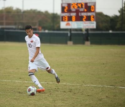 Sebastian Venegas at the NCAA Division II South Central Regional, Nov. 12, 2017. MSU beat Colorado Mesa 3-0. Photo by Bradley Wilson