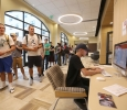 Students check in at Midwestern State University Social Media Day, Sept. 25, 2017. Photo by Bradley Wilson