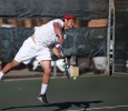 Chris Norrie, business senior, at the tennis tournament held at Midwestern State against Ferris State (Michigan). Photo by Timothy Jones.