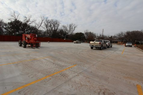 Parking lot located on Louis J. Rodriguez Drive and Hampstead Lane nears completion. Once the police station is torn down to make more space for this lot, construction will begin on the new police station which will be located where Marchman Hall stands now. Photo by Lauren Roberts