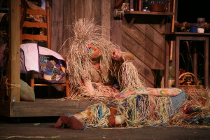 The magical critters lay by the house during rehearsals and will continue in performances this weekend.
