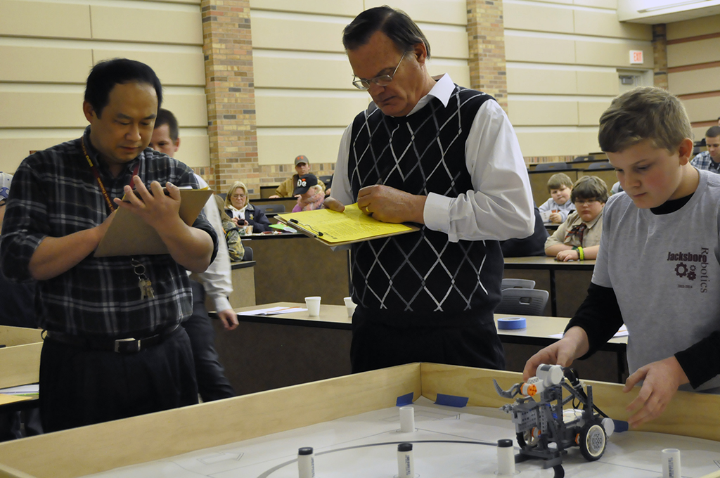 McCoy hosts robotics competition for area students