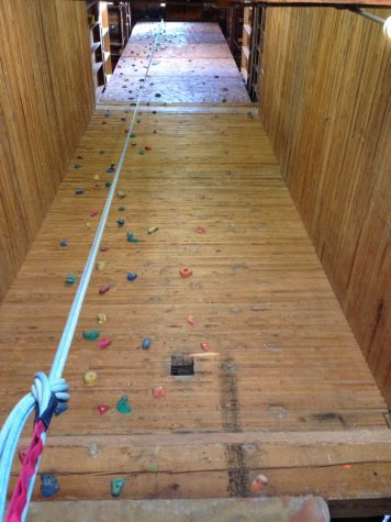 Rock gym in grain elevator provides exercise opportunities