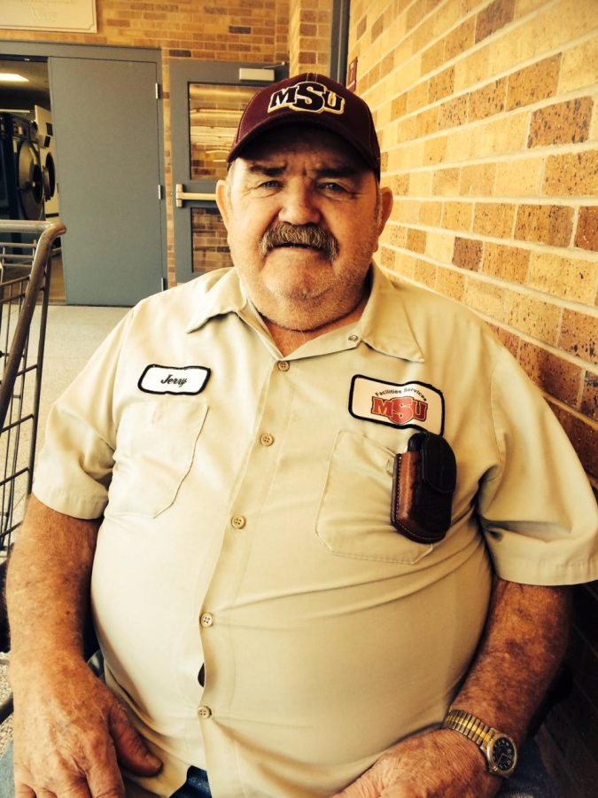 Jerry Miller, custodian and locker room attendant, plans to retire by the beginning of next year. Photo by Mandi Elrod