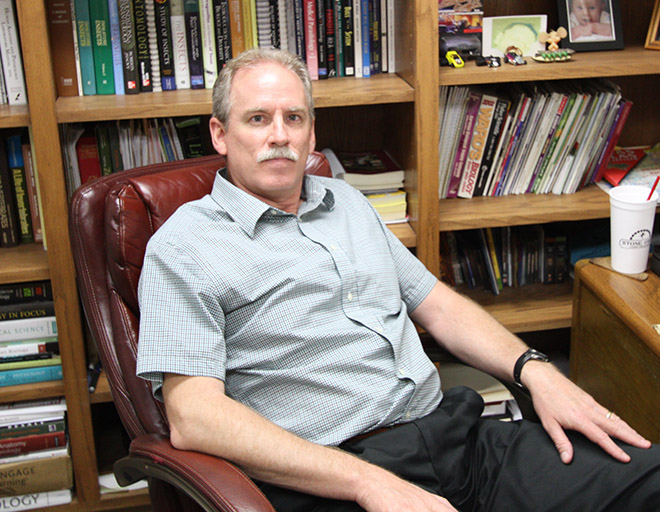 Roy Vogtsberger, associate professor of biology, said,