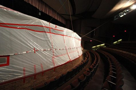 Asbestos delays stage replacement