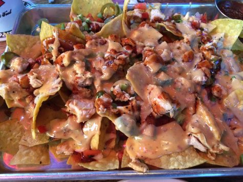 The Real Deal BBQ Chicken Nachos at Back Porch Draft House