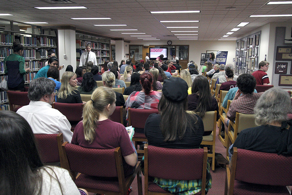 English professor gives banned-book talk to more than 70