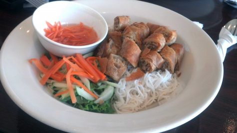 A vegetable noodle plate from Pho Viet.
