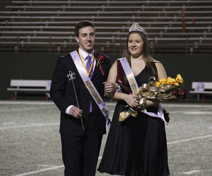 Taylor Duval and Kayla Gray are the 2013 Homecoming King and Queen. Photo by Lauren Roberts