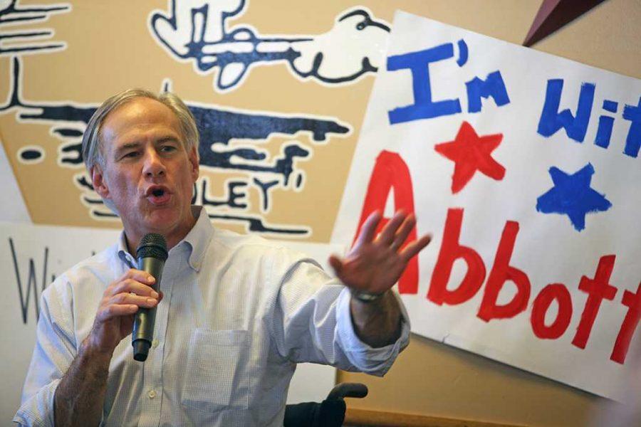 Gubernatorial candidate Greg Abbott spoke at Stanleys BBQ at Stanleys BBQ in Wichita Falls, Texas Oct. 25, 2015. Photo by Bradley Wilson