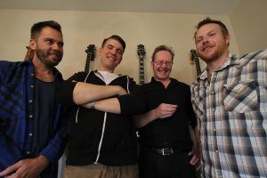 Richie Bates, Nathan Jun, Brinton Coxe and Adam Lynskey. Photo by Lauren Roberts