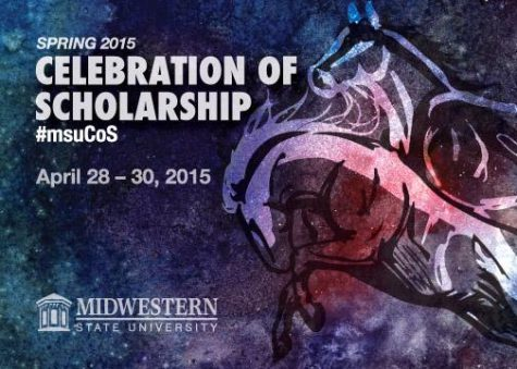 The official postcard design by Aaron Campbell for the Celebration of Scholarship, running April 28-30