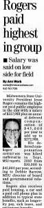 Rogers was highest paid public employee in the city according to Times Record News Feb, 12, 2011