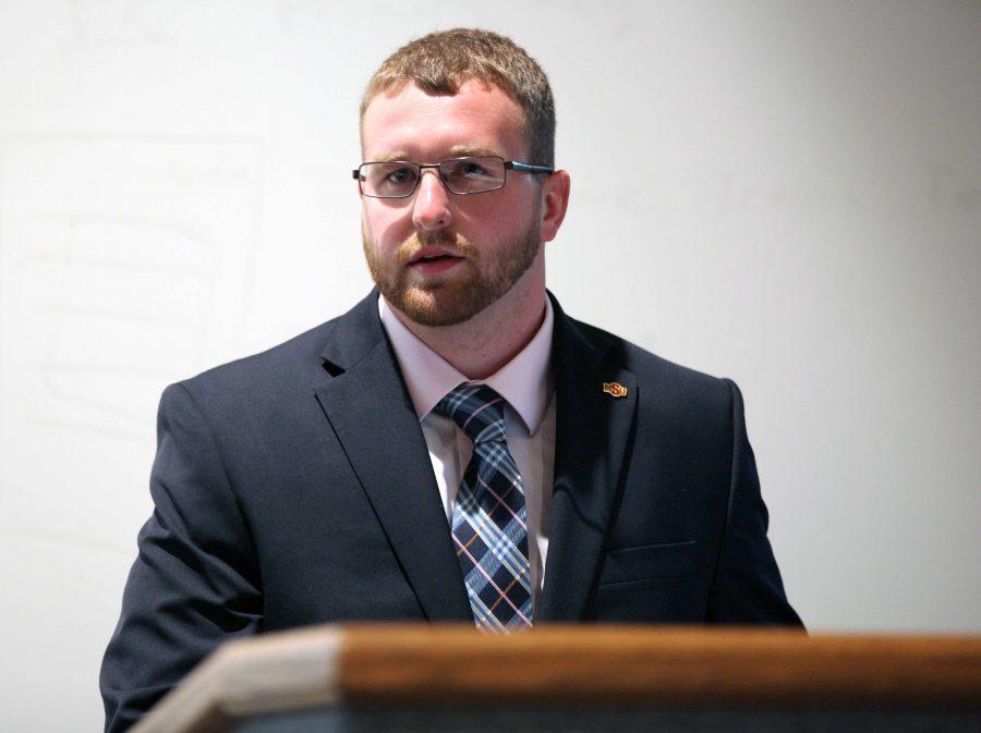 Jesse Brown, criminal justice junior and SGA president.