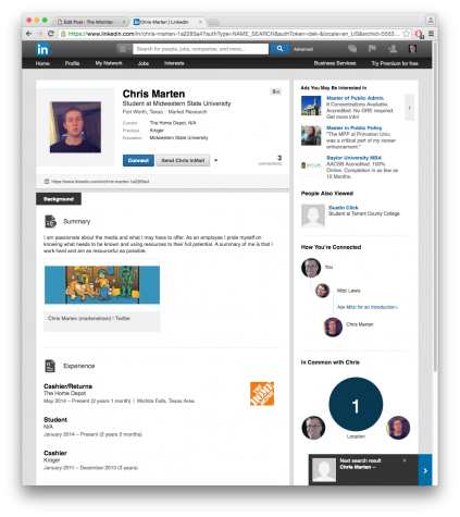 LinkedIn provides job prospect opportunities.