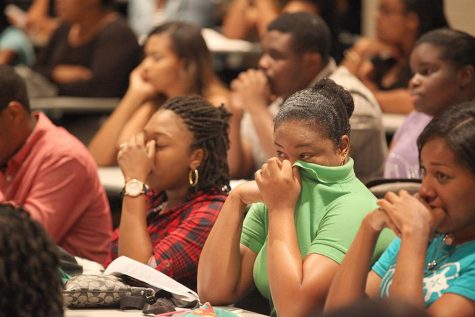 Campus rallies to support victims of tropical storm Erika