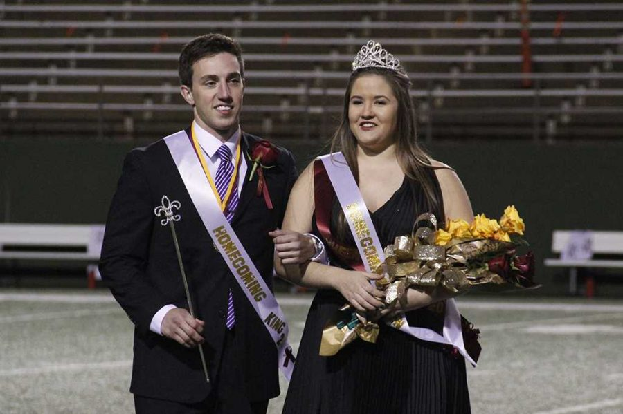 Taylor Duval and Kayla Gray are 2013 Homecoming King and Queen.