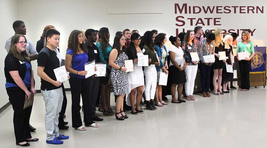 This year, 73 students were inducted into the Golden Key Honor Society and 36 attended the induction ceremony Sept. 18. Photo by Rachel Johnson.