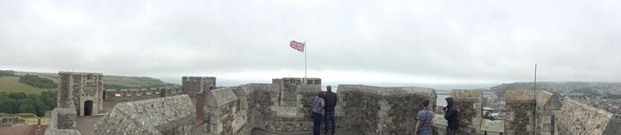 Curt Knobloch, finance senior, takes a panorama of the Dover, England also known as White Cliffs Country. Photo by Curt Knobloch