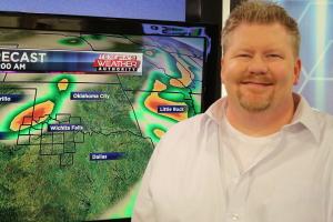 Bryan Rupp, KFDX 3 meteorologist giving examples of weather warnings.