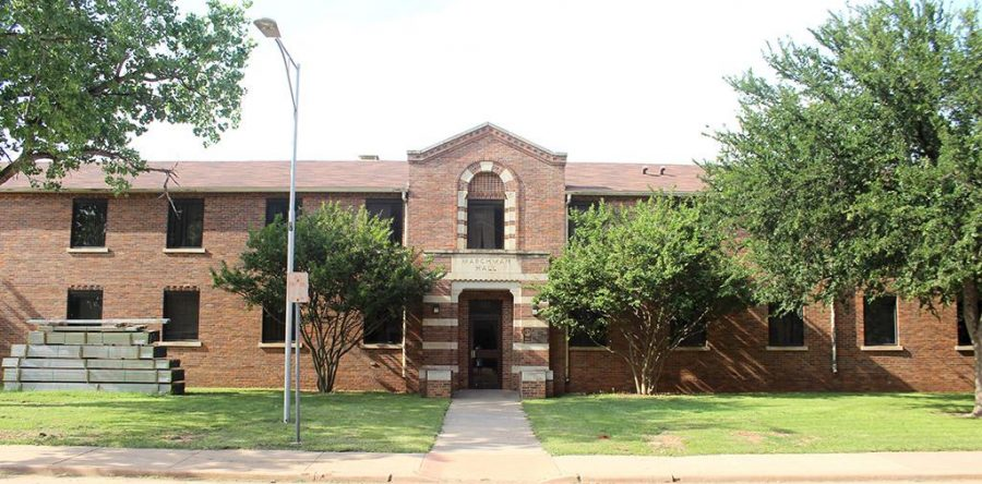 Marchman Hall is located on the corner of Comanche Tr and Louis J. Rodriguez Drive, across the street from McCullogh-Trigg Resident Hall. Photo by Rachel Johnson