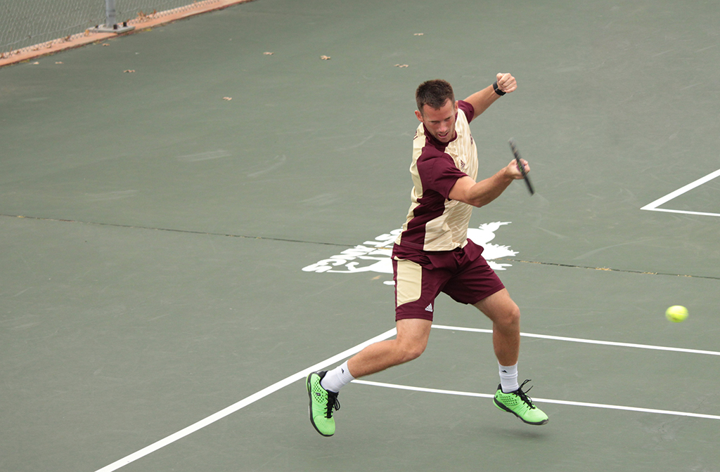 Men's tennis beats rival Cameron, playoff dream not dead