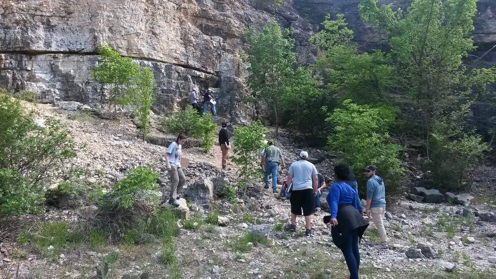 Students apart of the Structural geology class took a trip to the Arbuckles Mountain to explore and get hands on experience in the field. Photo by Jonathan Price