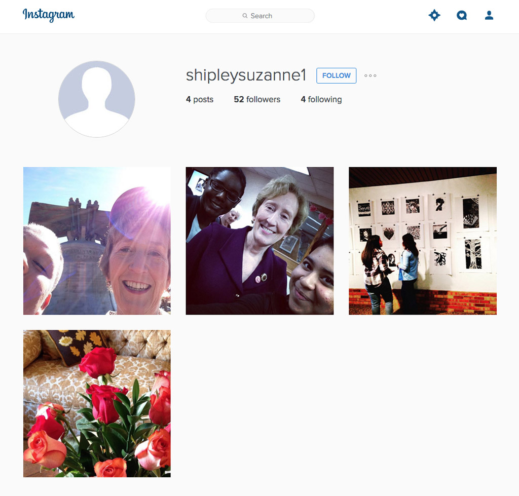 Screen shot from Midwestern State's President Suzanne Shipley's Instagram profile.